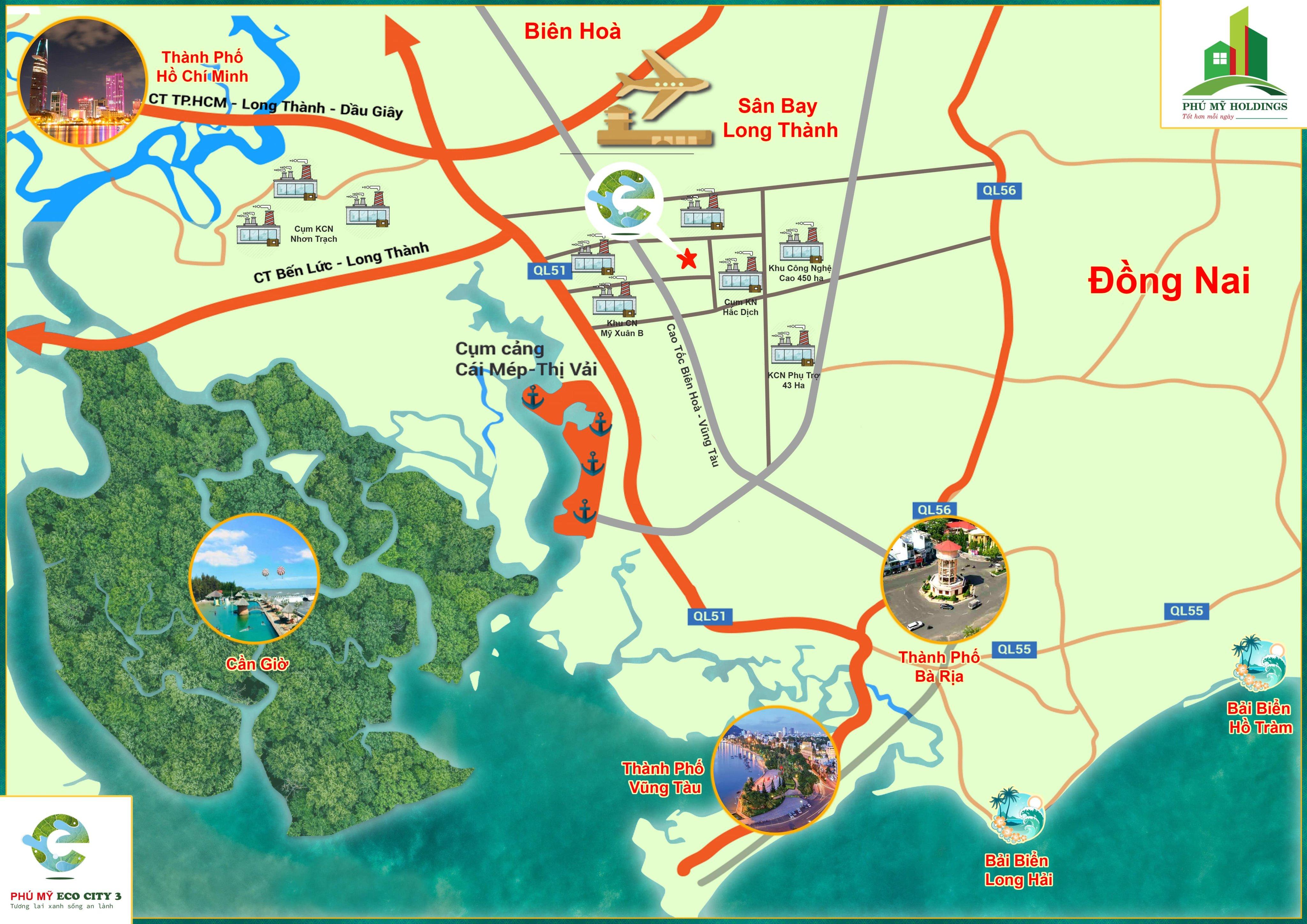 Vị trí khu dân cư Phú Mỹ Eco City 3